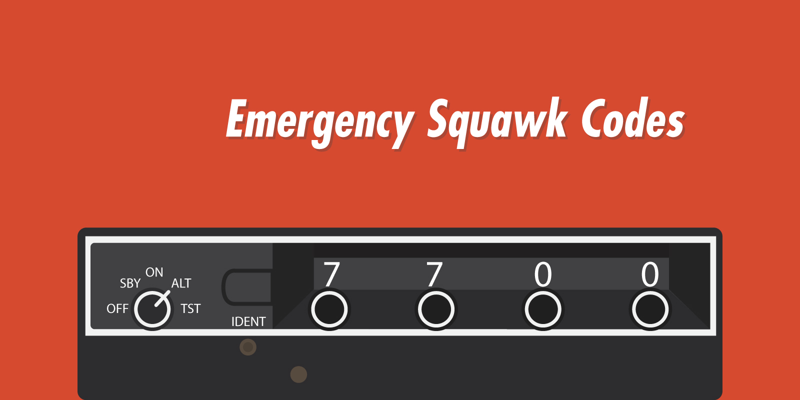 Emergency Squawk Codes
