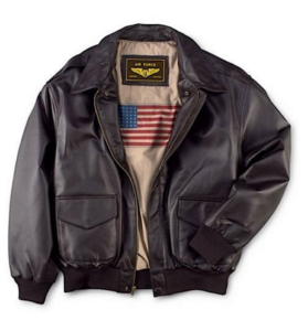 leather flight bomber jacket