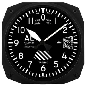 altimeter style wall clock